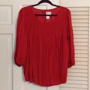 M.S.S.P. Rust color blouse size L